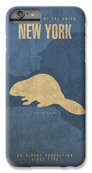 New York State Facts Minimalist Movie Poster Art  IPhone 6 Plus Case by Design Turnpike