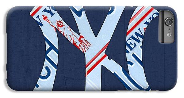 New York Yankees Baseball Team Vintage Logo Recycled Ny License Plate Art IPhone 6 Plus Case