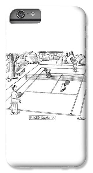 Tennis iPhone 6 Plus Case - New Yorker June 3rd, 1991 by Peter Steiner