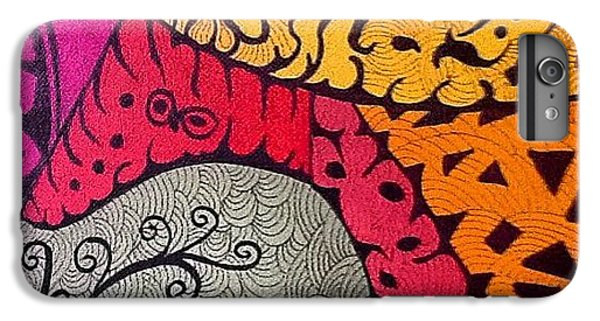 iPhone 6 Plus Case - Nice Colors In A Doodling Designs I by Sandra Lira