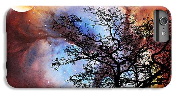 Barren iPhone 6 Plus Case - Night Sky Landscape Art By Sharon Cummings by Sharon Cummings