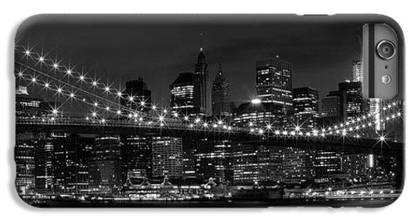 Night-skyline New York City Bw IPhone 6 Plus Case by Melanie Viola