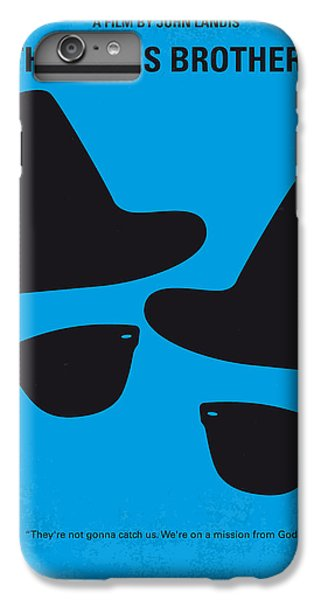 City Scenes iPhone 6 Plus Case - No012 My Blues Brother Minimal Movie Poster by Chungkong Art