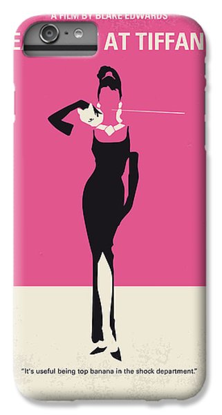 No204 My Breakfast At Tiffanys Minimal Movie Poster IPhone 6 Plus Case by Chungkong Art