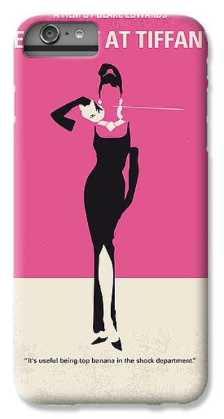Audrey Hepburn iPhone 6 Plus Case - No204 My Breakfast At Tiffanys Minimal Movie Poster by Chungkong Art