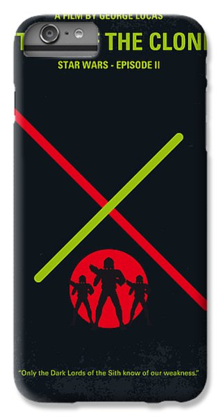 Knight iPhone 6 Plus Case - No224 My Star Wars Episode II Attack Of The Clones Minimal Movie Poster by Chungkong Art