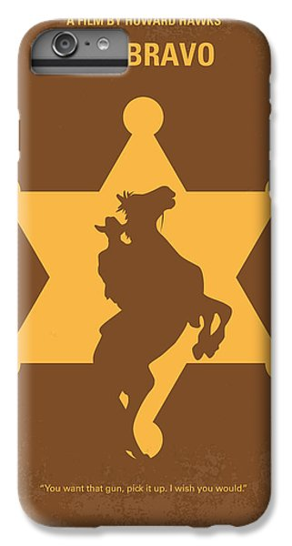 No322 My Rio Bravo Minimal Movie Poster IPhone 6 Plus Case by Chungkong Art