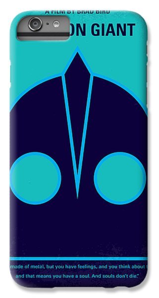Aliens iPhone 6 Plus Case - No406 My The Iron Giant Minimal Movie Poster by Chungkong Art