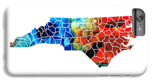 North Carolina - Colorful Wall Map By Sharon Cummings IPhone 6 Plus Case