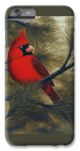 Northern Cardinal IPhone 6 Plus Case by Rick Bainbridge