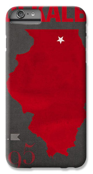 Northern Illinois University Huskies Dekalb Illinois College Town State Map Poster Series No 079 IPhone 6 Plus Case by Design Turnpike