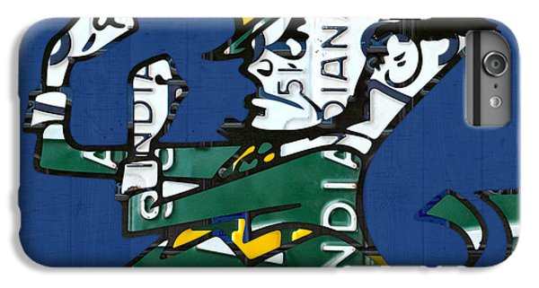 Notre Dame Fighting Irish Leprechaun Vintage Indiana License Plate Art  IPhone 6 Plus Case