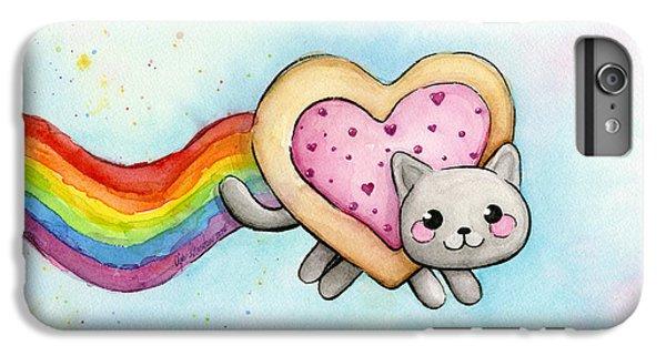 Cats iPhone 6 Plus Case - Nyan Cat Valentine Heart by Olga Shvartsur