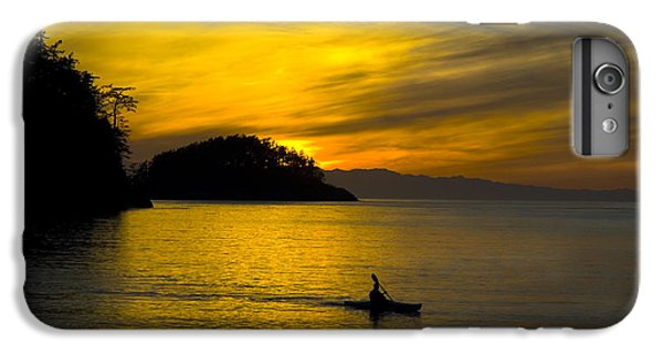 IPhone 6 Plus Case featuring the photograph Ocean Sunset At Rosario Strait by Yulia Kazansky