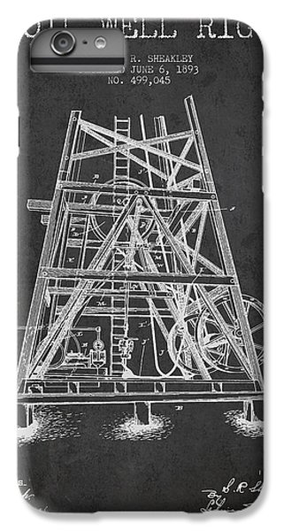 Oil Well Rig Patent From 1893 - Dark IPhone 6 Plus Case by Aged Pixel