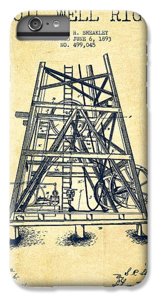 Oil Well Rig Patent From 1893 - Vintage IPhone 6 Plus Case by Aged Pixel