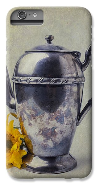 Sunflower iPhone 6 Plus Case - Old Teapot With Sunflower by Garry Gay