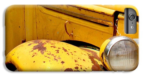 Transportation iPhone 6 Plus Case - Old Yellow Truck by Art Block Collections