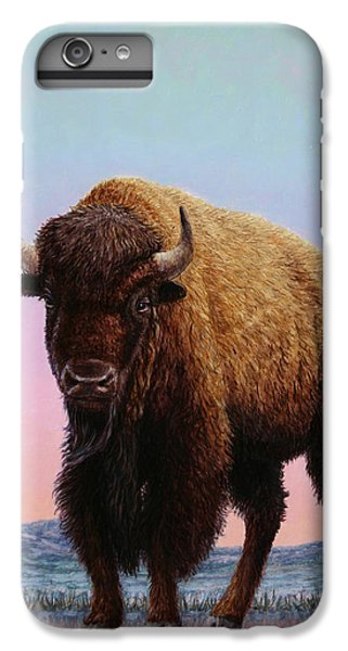 Buffalo iPhone 6 Plus Case - On Thin Ice by James W Johnson