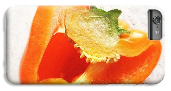 Orange iPhone 6 Plus Case - Orange Bell Pepper - Square Format by Matthias Hauser