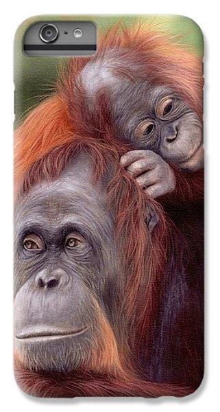 Orangutans Painting IPhone 6 Plus Case by Rachel Stribbling