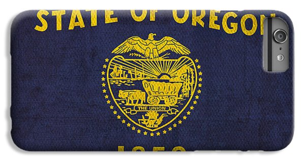 Oregon State Flag Art On Worn Canvas IPhone 6 Plus Case by Design Turnpike