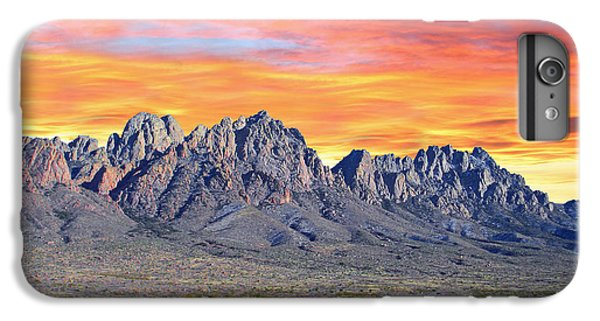 Mountain Sunset iPhone 6 Plus Case - Organ Mountain Sunrise Most Viewed  by Jack Pumphrey