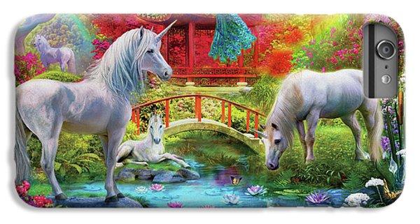 IPhone 6 Plus Case featuring the drawing Orietnal Unicorns by Jan Patrik Krasny