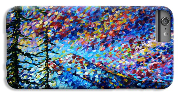 Impressionism iPhone 6 Plus Case - Original Abstract Impressionist Landscape Contemporary Art By Madart Mountain Glory by Megan Duncanson