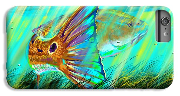 Sharks iPhone 6 Plus Case - Over The Grass  by Yusniel Santos