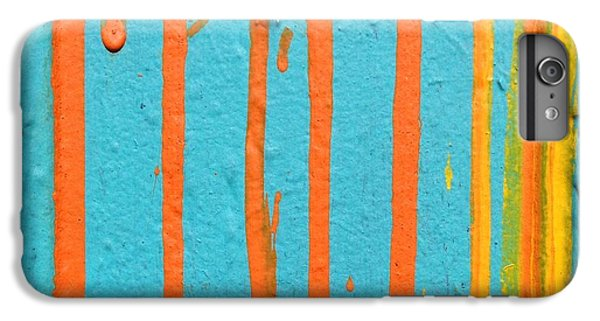 Orange iPhone 6 Plus Case - Paint Drips by Julie Gebhardt