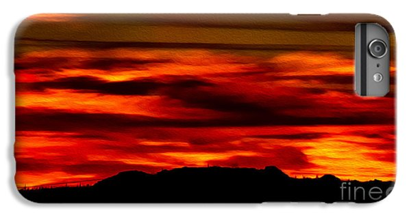 IPhone 6 Plus Case featuring the photograph Painted Sky 34 by Mark Myhaver