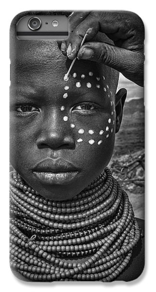 Africa iPhone 6 Plus Case - Painting The Face Of A Karo Tribe Girl (omo Valley-ethiopia) by Joxe Inazio Kuesta