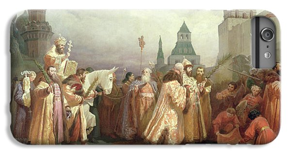 Palm Sunday Procession Under The Reign Of Tsar Alexis Romanov IPhone 6 Plus Case by Viatcheslav Grigorievitch Schwarz