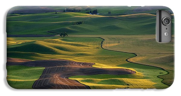 Rural Scenes iPhone 6 Plus Case - Palouse Shadows by Mike  Dawson
