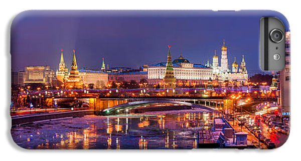 Moscow iPhone 6 Plus Case - Panoramic View Of Moscow River And Moscow Kremlin  - Featured 3 by Alexander Senin