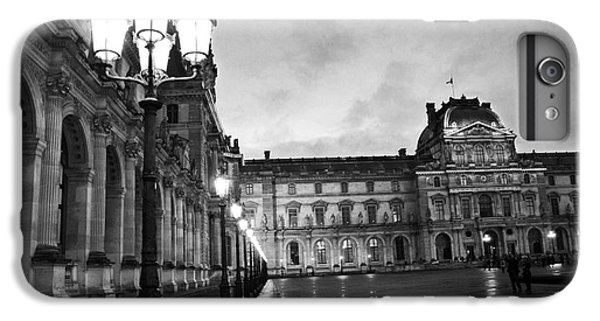 Paris Louvre Museum Lanterns Lamps - Paris Black And White Louvre Museum Architecture IPhone 6 Plus Case