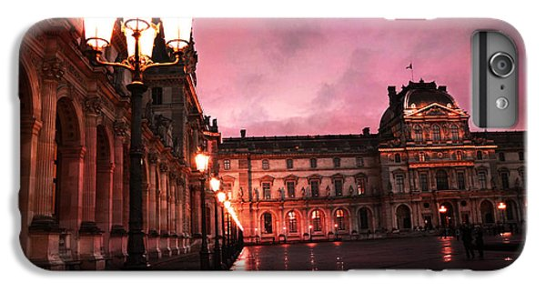 Paris Louvre Museum Night Architecture Street Lamps - Paris Louvre Museum Lanterns Night Lights IPhone 6 Plus Case by Kathy Fornal