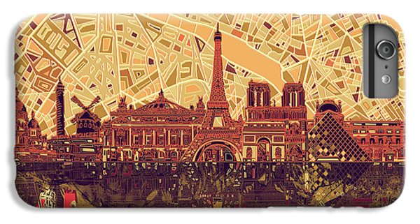 Paris Skyline Abstract Sepia IPhone 6 Plus Case
