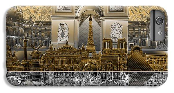 Paris Skyline Landmarks 5 IPhone 6 Plus Case