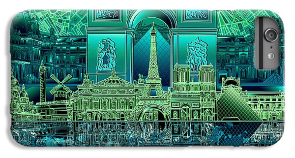 Paris Skyline Landmarks 6 IPhone 6 Plus Case