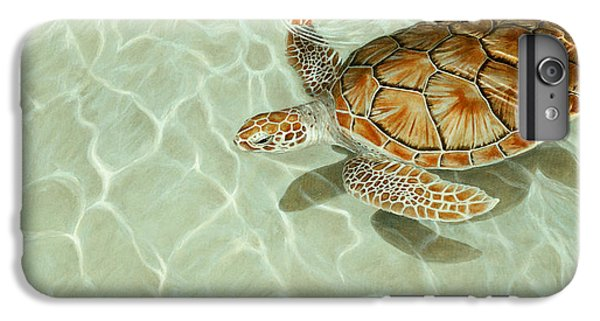 Patterns In Motion - Portrait Of A Sea Turtle IPhone 6 Plus Case