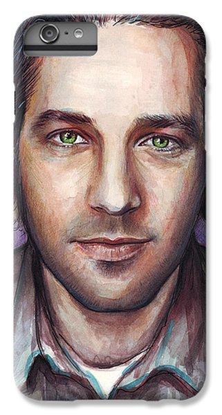 Celebrities iPhone 6 Plus Case - Paul Rudd Portrait by Olga Shvartsur