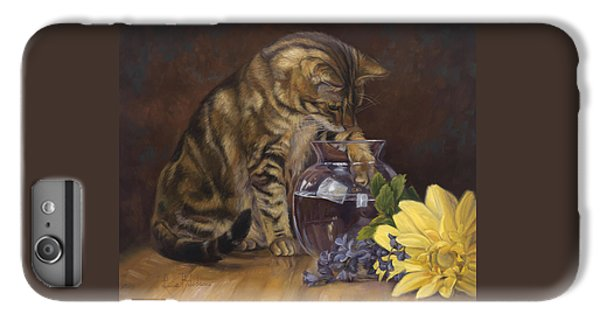 Paw In The Vase IPhone 6 Plus Case by Lucie Bilodeau