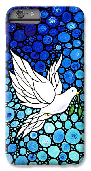 Dove iPhone 6 Plus Case - Peaceful Journey - White Dove Peace Art by Sharon Cummings