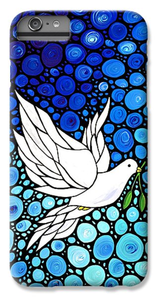 Peaceful Journey - White Dove Peace Art IPhone 6 Plus Case by Sharon Cummings