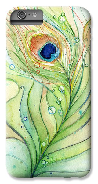 Peacock Feather Watercolor IPhone 6 Plus Case