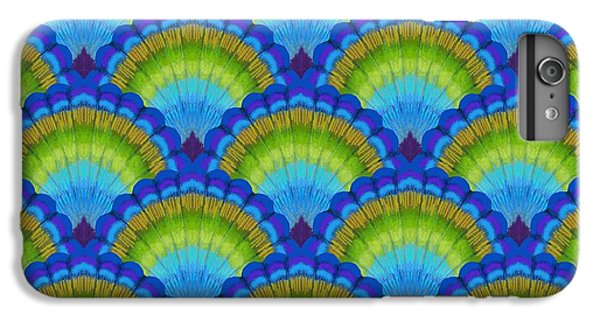 Peacock Scallop Feathers IPhone 6 Plus Case