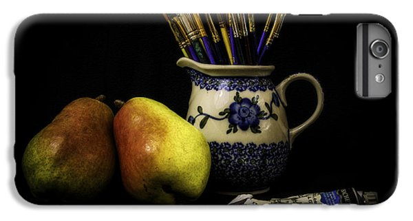 Pears And Paints Still Life IPhone 6 Plus Case by Jon Woodhams