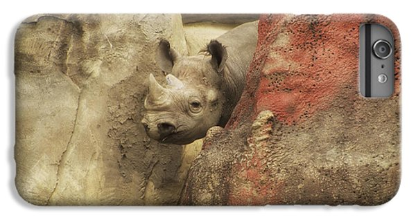 Peek A Boo Rhino IPhone 6 Plus Case by Thomas Woolworth
